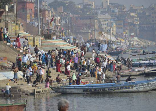 River Ganga not just has spiritual and religious significance. It also nourishes a population of over 450 million. (Source: Express photo by Swati Chandra)