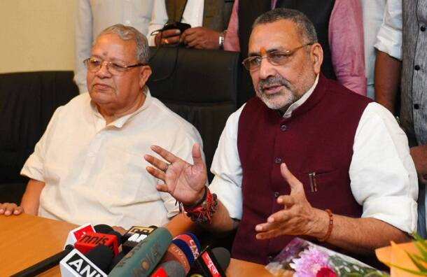 Today in Pics: MoS MSME Giriraj Kishore interacts with media