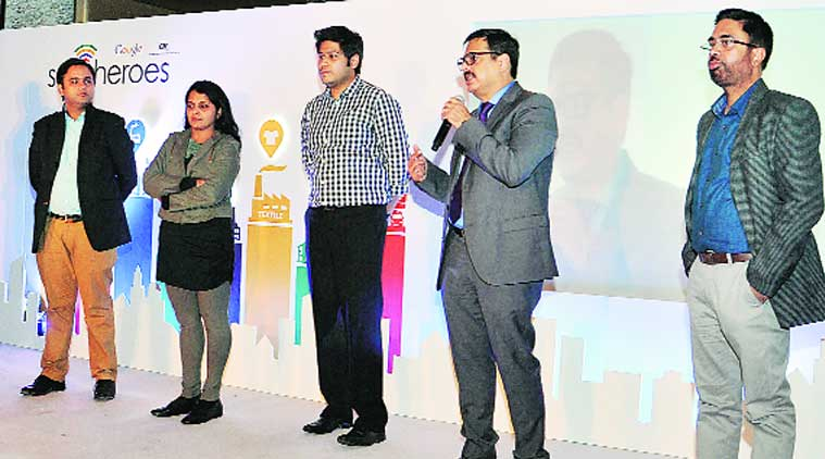 Google SME Heroes  at J W Marriot in Sector 35, Chandigarh, on Wednesday. (Source: Express photo)