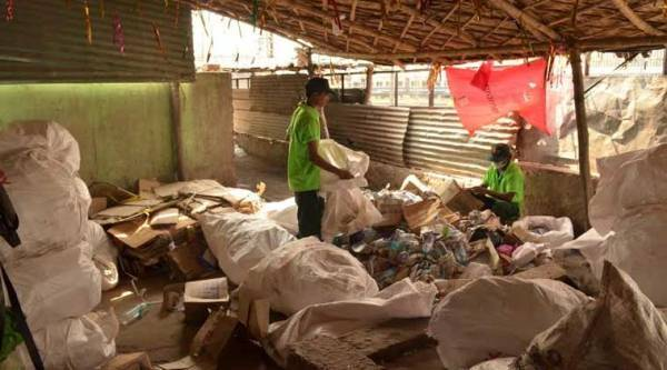 Chintan, a material recovery facility at New Delhi Railway Station