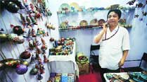 After losing all to floods, papier mache man finds hope at tradefair
