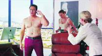 Govinda who plays a superstar prepares  for a scene in which he has to go under  the surgeon's knife