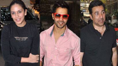 Of Celebrity spottings and promotions: Varun, Huma, Sunny Deol