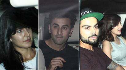 Couples' night out: Virat Kohli-Anushka Sharma, Ranbir Kapoor- Katrina Kaif