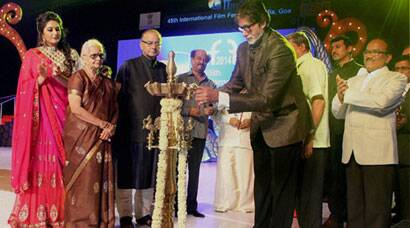 Amitabh Bachchan, Rajinikanth and others at the IFFI inaugural ceremony