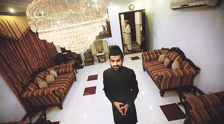 Shaban, son of Imam Bukhari as he is going to be New Shahi Imam, in New Delhi on Monday. (Express photo by Praveen Khanna)
