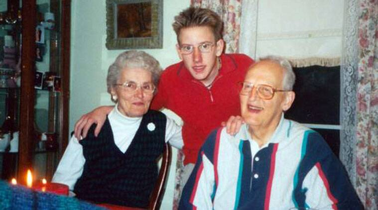 In this undated photo provided by the Kassig family, Peter Kassig, is shown with his maternal grandparents. His grandfather, a co-founder of Christians for Peace and Justice in the Middle East, was an advocate for Palestinians in their struggle for a homeland. The Islamic State group released a graphic video on Sunday, Nov. 16, 2014, in which a black-clad militant claimed to have beheaded U.S. aid worker Peter Kassig, who was providing medical aid to Syrians fleeing the civil war when he was captured inside Syria on Oct. 1, 2013. His friends say he converted to Islam in captivity and took the first name Abdul-Rahman. (Source: AP Photo/Courtesy Kassig Family)