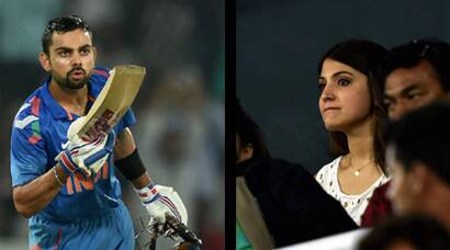 When Virat Kohli blew a kiss and Anushka Sharma smiled!