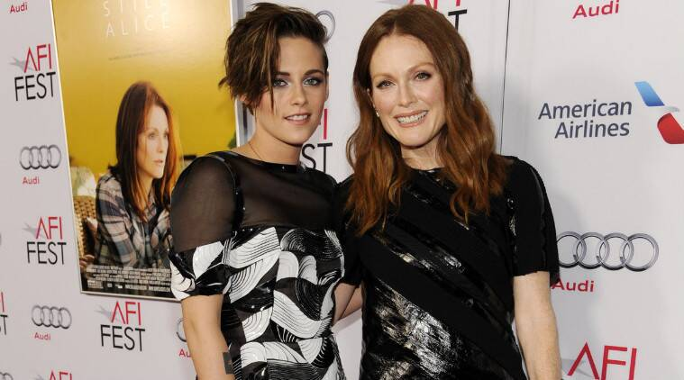Kristen Stewart on Julianne Moore: I've known her for a number of years (because) I worked with her husband (Bart Freundlich). (Source: AP)