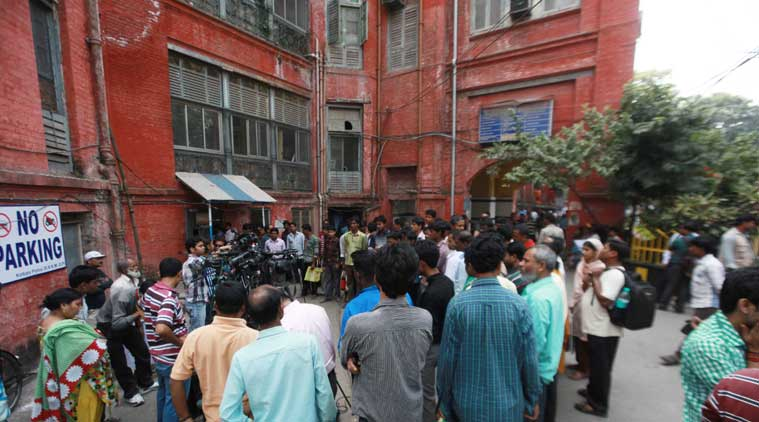 SSKM hospital on Friday morning after Kunal admited in CCU. Kunal Ghosh attampted to suicide in Jail. (Source: Express photo by Subham Dutta)