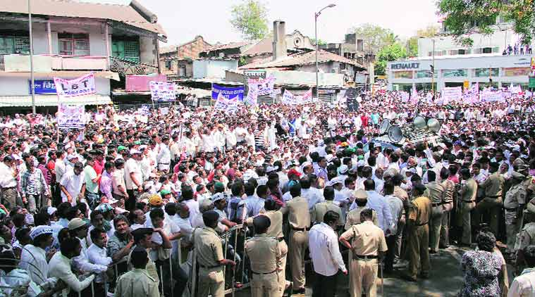 LBT collection was hampered by protests in the first half of 2013 with traders going on strike. (Source: Express archive)