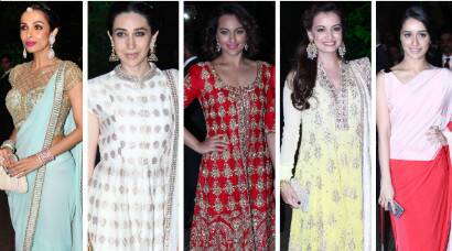 Best Dressed at Arpita-Aayush's wedding reception: Dia, Sonakshi, Shraddha, Malaika