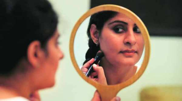 Women were only allowed to work as hairdressers in the film and television industry and were paid lesser than their male counterparts who enjoyed an unfair monopoly over painting faces.(Express photo by Renuka Puri)