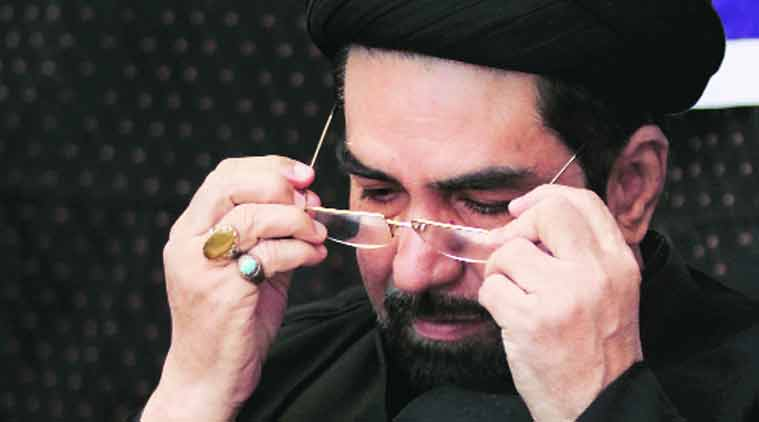 The group, headed by Shia cleric Maulana Kalbe Jawwad, was to fly to Iraq.