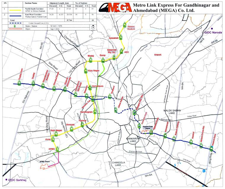 Tweak in routemap of Ahmedabad metro to cost additional Rs 500