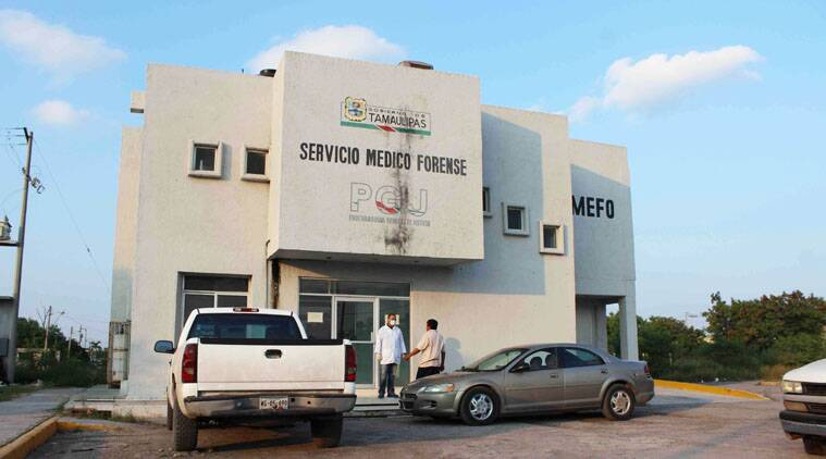 The exterior of Mexico's Medical Forensic Service (SEMEFO) where the bodies of three US citizens are being held in Matamoros.