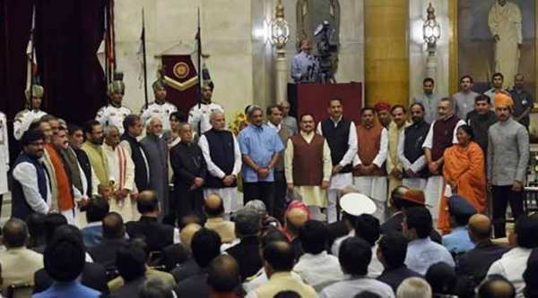 Prime Minister Narendra Modi expanded his Council of Ministers and reshuffled portfolios on Sunday.  (AP Photo)