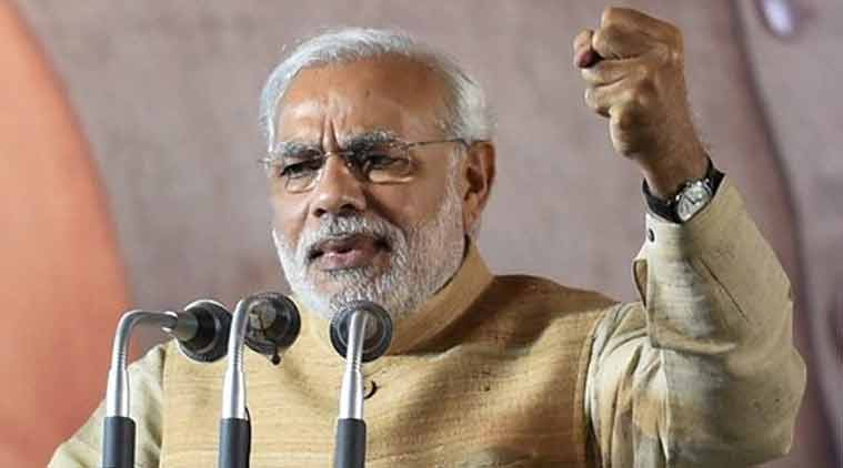 Prime Minister Narendra Modi speaks during the launch of Bharatiya Janata Party's (BJP) membership drive at party headquarters in New Delhi on Saturday. (Source: PTI photo)