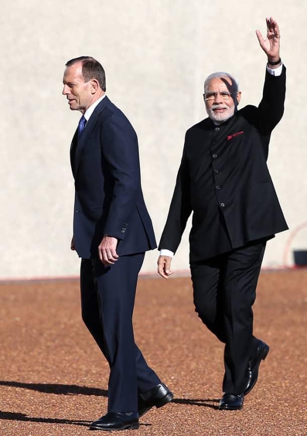 Narendra Modi meets Australian PM Tony Abbot