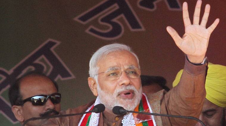 Modi cited that the Chhattisgarh state government as an example of the model of governance he is promoting.