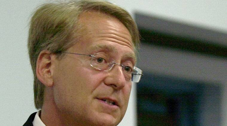 In this file photo, Larry Klayman speaks in Melbourne.