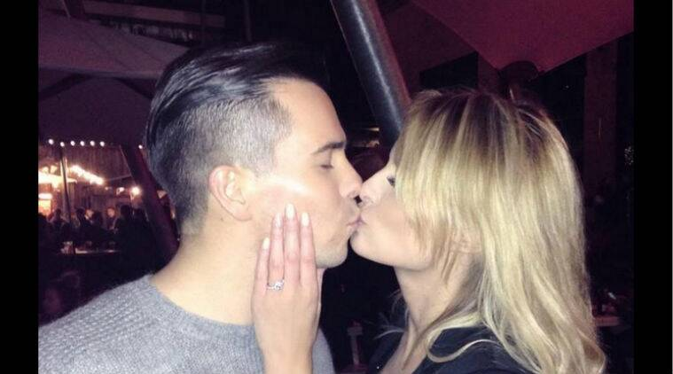 Oliver Mellor is engaged to marry model Rhian Sugden. (Source: Twitter)