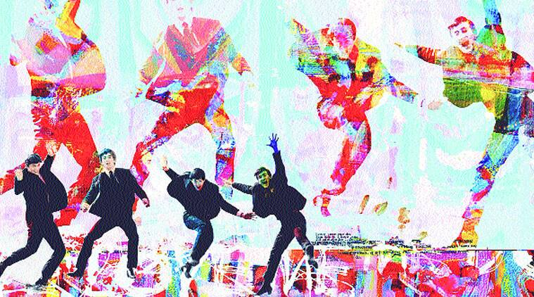Love Me Do by Dganit Blechner is a colourful take on The Beatles.
