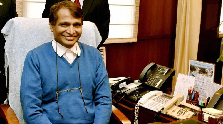 Suresh Prabhu takes charge as the Union Minister for Railways at Rail Bhawan in New Delhi on Monday. (Source: PTI)