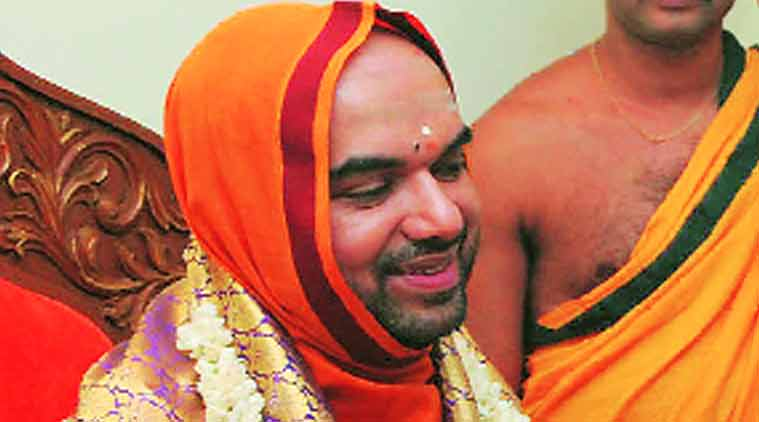 "The singer says Raghaveshwara Bharati asked her to ""sacrifice her body"" to prove her devotion to him. (Source: Express photo by Kashif Masood)"