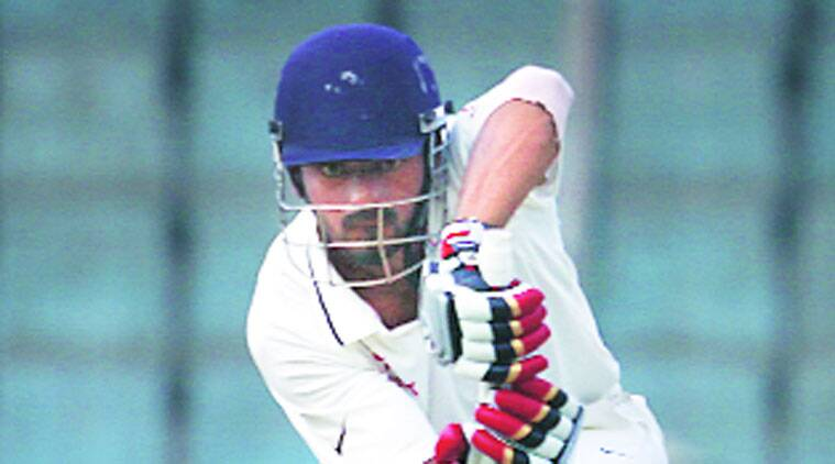 Rahul, who made 185 in the 1st innings, is batting on 121. (Express photo by Praveen Khanna)