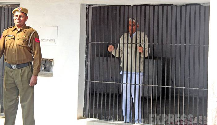 "He will be later today also produced before Punjab and Haryana High Court in another  contempt case. Earlier, the medical examination of Rampal, who was arrested from his Satlok Ashram in Hisar's Barwala town, was conducted at the Government General hospital at Panchkula, with a doctor describing his major health  parameters as ""stable"". (Source: Express Photo by Sumit Malhotra)"
