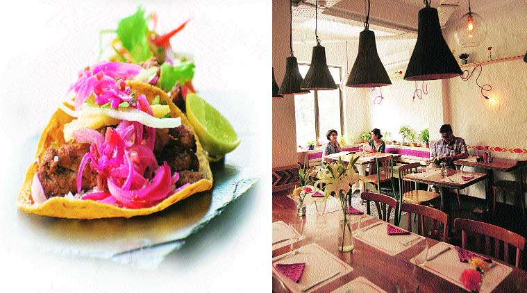 Al Pastor Taco; interiors of the restaurant (Source: Express photo by Amit Mehra)
