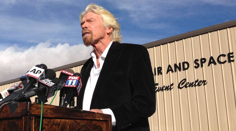 Billionaire Virgin Galactic founder Richard Branson, saluting the bravery of test pilots, vowed Saturday to find out what caused the crash.