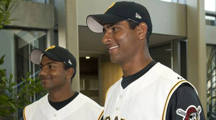 Rinku Singh and Dinesh Patel who play for the Pittsburgh Pirates. (Source: USA Today Sports)