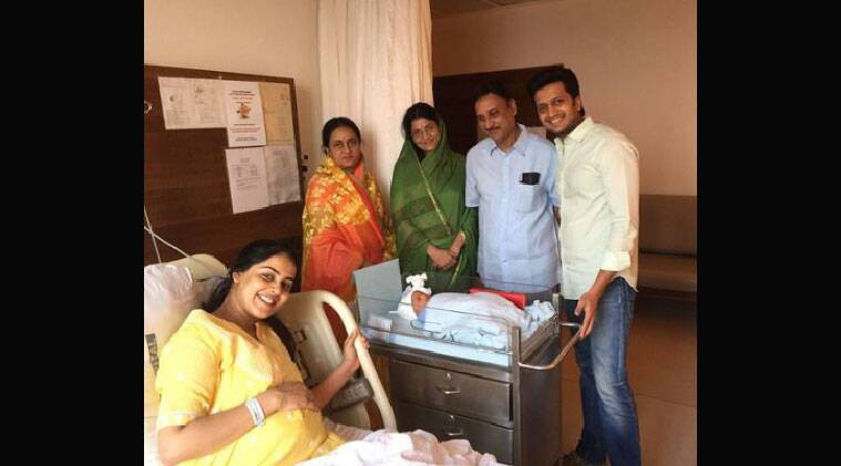 """Genelia took to Twitter to share the good news and posted: """"Our Son 'RIAAN RITEISH DESHMUKH'"""""""