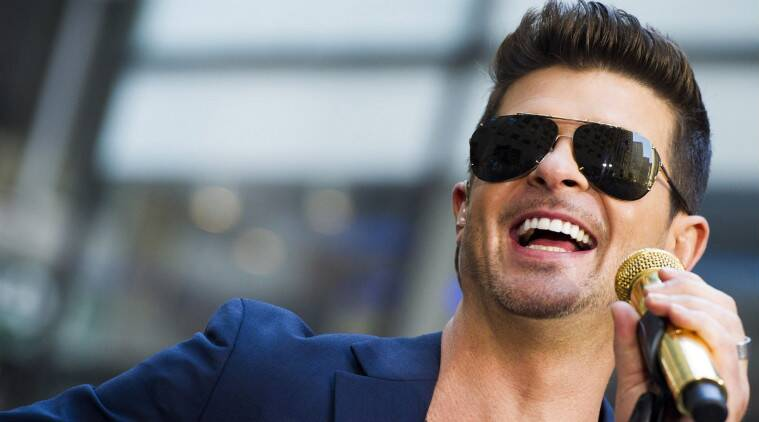 Robin Thicke split from his wife of almost nine years in February. (Source: AP)