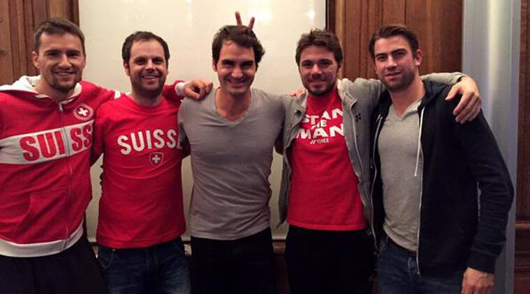 "Roger Federer tweeted this picture with the caption: ""It's great being with the boys again."" (Source: @rogerfederer)"
