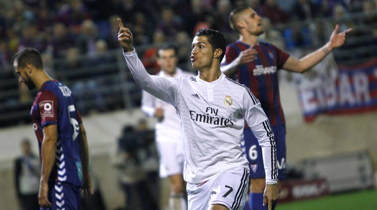 Cristiano Ronaldo is the first player to reach 20 goals in the opening 12 rounds of La Liga (Source: Reuters)