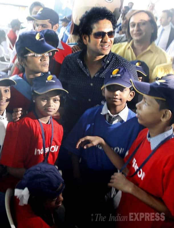 Sachin Tendulkar celebrates Children's Day with under-privileged kids