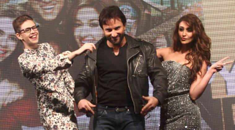 Bollywood actors Saif Ali Khan, Govinda and Ileana D' Cruz today hit the red carpet at the premiere of their upcoming film 'Happy Ending' here amid loud cheers from fans.