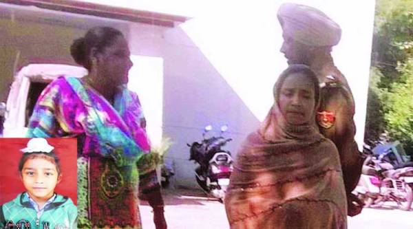 Harinder Kaur, mother of Mehram Sandhu (inset),  coming out of the phase 8 police station on Sunday.