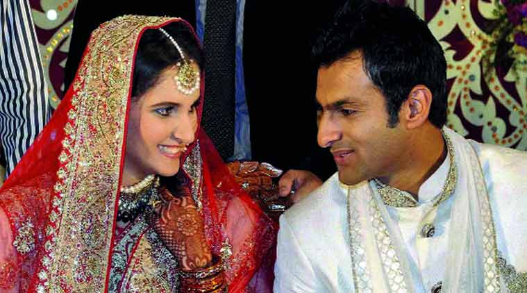 Sania Mirza with husband, Pakistani cricketer Shoaib Malik.