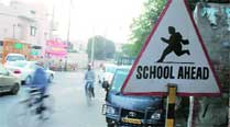 Install boards on traffic signs at school gates: Education department to schools