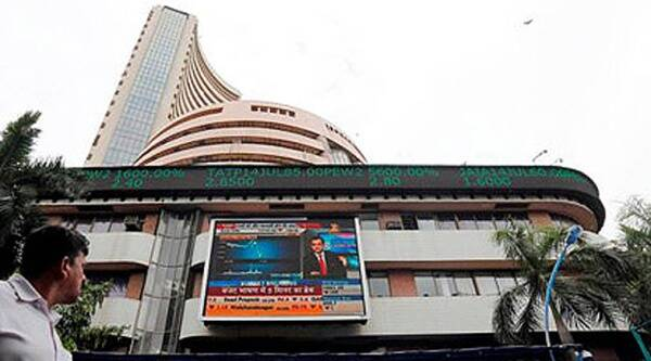 Sensex slipped from record-high, ends 5.45 points lower at 27,860.38; Nifty rose 1.95 points to 8,324.15. (AP)
