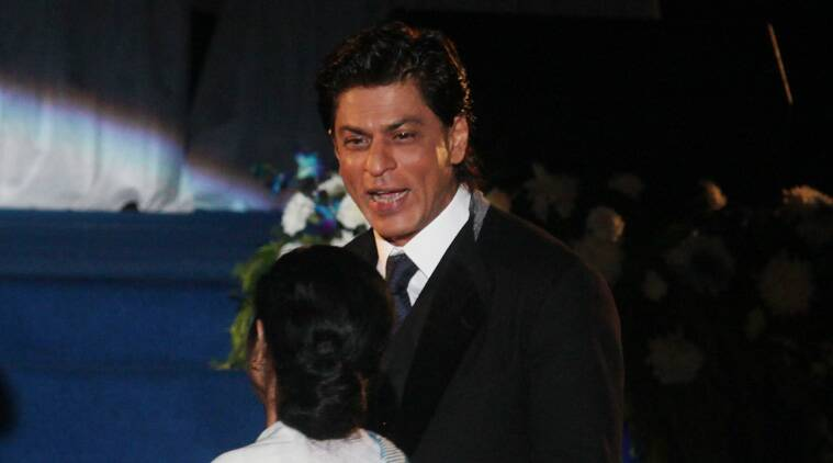 SRK, the brand ambassador of Bengal and one of West Bengal Chief Minister Mamata Banerjee's key go-to-guy for inaugurating mega-scale events, regaled the audiences in his usual suave and sleek style. (Source: Express Photo by Partha Paul)