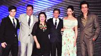 The star cast of Happy NewYear with director Farah Khan