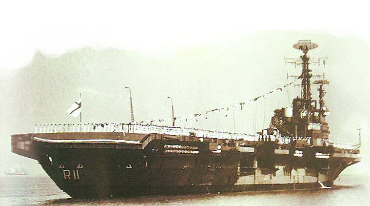 The Vikrant in her heydays
