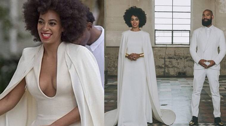 Singer Solange Knowles tied the knot with music director boyfriend Alan Ferguson at a church in New Orleans. (Source: Instagram)