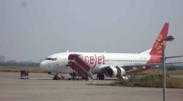 DGCA withdrew 186 of its slots and asked it to clear salary dues of all its employees in the next 10 days.  (Express photo by Kamaal Syeed)
