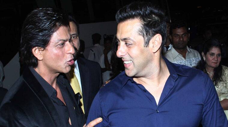 We came across a video shot at the wedding reception, where Shah Rukh Khan and Salman Khan can be seen happily chatting with each other.